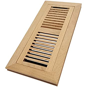 Welland 4x10 Hickory Wood Flush Mount Floor Register Vent