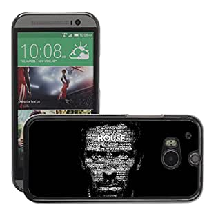 Hot Style Cell Phone PC Hard Case Cover // M00044466 typography house dr. artistic // HTC One M8