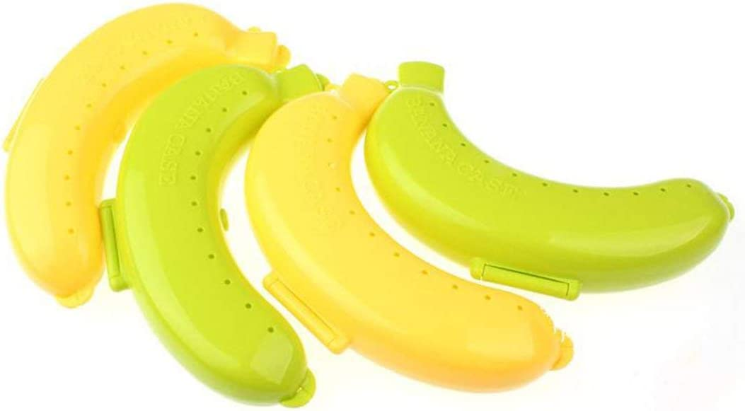 Swiftswan Tragbare Bananenschutzbox Obstregal Universal Bananenschachtel Lunchbox Kinder Aufbewahrungsbox