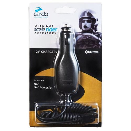 Cardo Systems Inc G9 & G9x Car Charger Scala Rider Communication Head Set Accessories - Black by Cardo Systems
