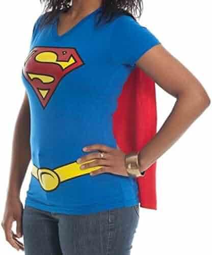 DC Comics Supergirl Cape Juniors T-shirt