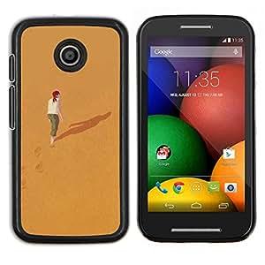 Stuss Case / Funda Carcasa protectora - Significado Profundo Sola Chica Redhead - Motorola Moto E ( 1st Generation )