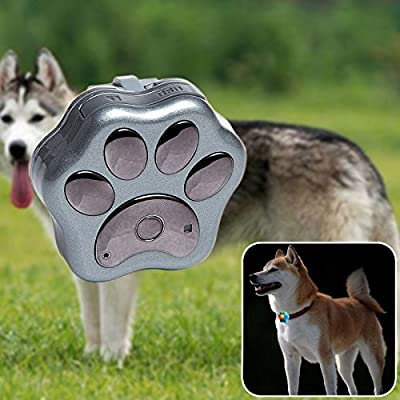 NESTTER Pets GPS Tracker on Collar, Locate Dog & Cat in Real-time Tracking Animals Daily Activity with Wifi Anti-lost Fence Waterproof Rolling Led Lights with Free App for iPhone & Android (Silver)