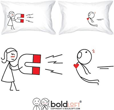 BoldLoft You Are Irresistible His and Hers Pillowcases-Funny Couple Gifts, for Him,Dating for Boyfriend,Fiance Gifts,Matching Gifts for Couples,His and Hers Gifts