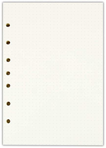 Amazon A5 Dotted Filler Paper 7 Hole Punch 57 X 825 Fits 3 Or Ring Binders 100 Sheets Office Products