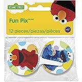 Wilton 2113-3470 Fun Pix 12 Count Licensed Sesame Street, Multicolored