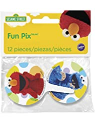 Wilton 2113-3470 12 Count Sesame Street Cupcake Toppers, Multicolor