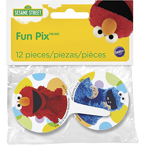 Wilton 2113-3470 12 Count Sesame Street Cupcake Toppers, Multicolor]()