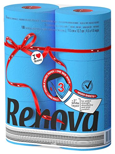 Renova Red Label Maxi Toilet Paper, Blue