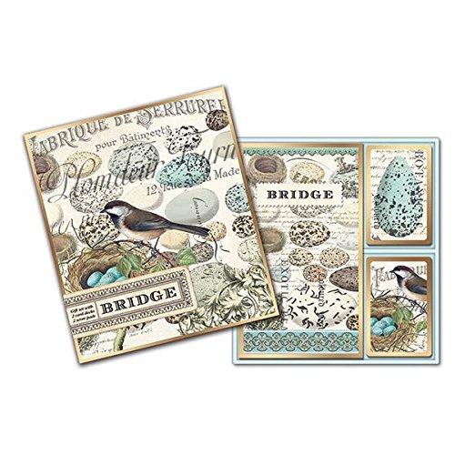 Michel Design Works Bridge Card Gift Set, Nest & Eggs,