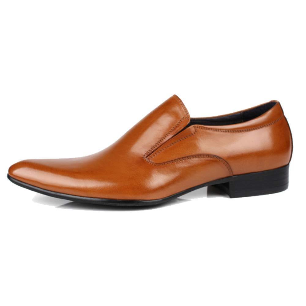 YCGCM Männer, Lederschuhe, England, Spitz, Business, Trend, Niedrige Yellow Schuhe, Atmungsaktiv, Tragbar, Bequem Yellow Niedrige e3ea71