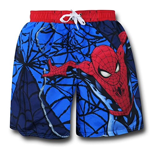 Spiderman Leap Kids Swim Trunks- Juvenile 6/7