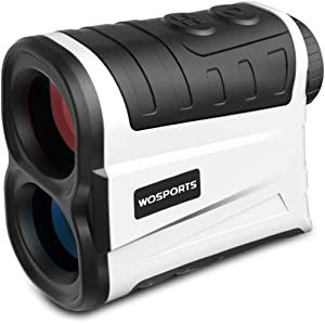 WOSPORTS Golf Rangefinder, 800 Yards Laser Range Finder with Slope, Flag-Lock with Pulse Vibration, Angle, Continuous Scan Measurement