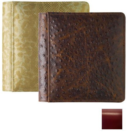 ROMA RED #103 smooth grain leather 1-up 5x7 album by Raika - 5x7