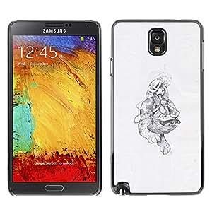 Caucho caso de Shell duro de la cubierta de accesorios de protección BY RAYDREAMMM - Samsung Note 3 N9000 - Monstruos abstractos