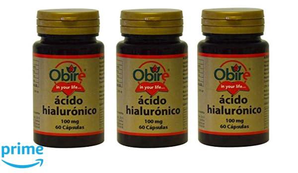 Acido Hialurónico 100 mg 60 cápsulas. Oribe (Pack 3u.): Amazon.es: Salud y cuidado personal