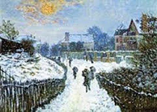 Galison Monet St Boulevard Christmas Card (51395)