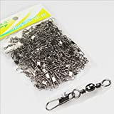 100 a bags XL fishing fast pin connector of 12 ring type swivel linker Fishing gadgets accessories