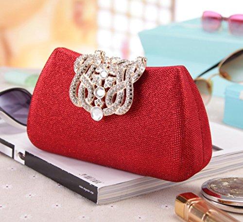 Europa De De Diamantes Cuadros A Moda Moda Red Bolso Noche Bolso Bolsa Embrague qYtxzZw