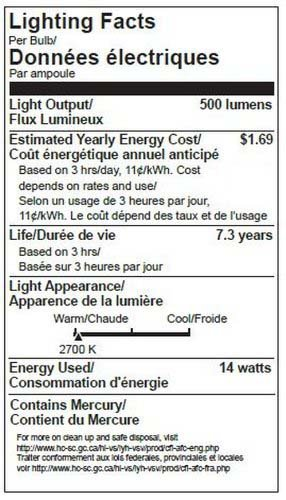 TCP 50W Equivalent, CFL R20 Flood Light Bulbs, Non-dimmable, Soft White (2 Pack) by TCP (Image #2)
