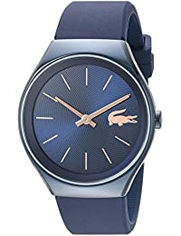 Womens Valencia Quartz Resin and Silicone Watch, Color:Blue (Model: