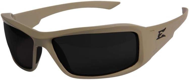 Edge Eyewear Hamel Thin Temple Glasses, Matte Sand Frame/G-15 Vapor Shield Lens