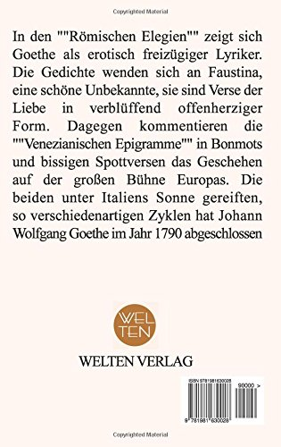 Römische Elegien German Edition Johann Wolfgang Goethe