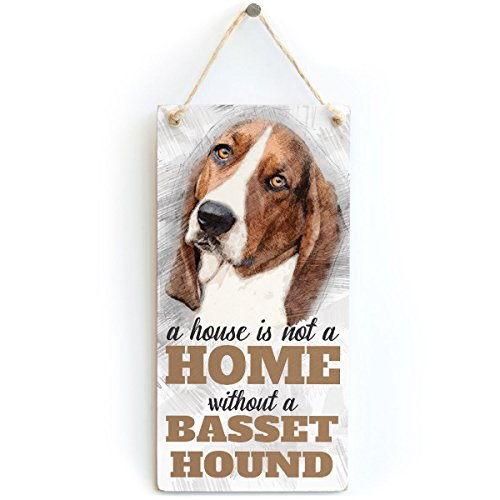 Meijiafei A House is Not A Home Without A Basset Hound - Dog Sign/Plaque 10