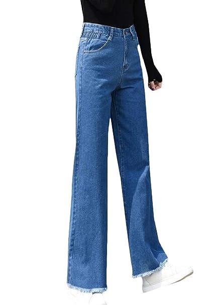 the best attitude 45921 cded0 pipigo Womens Wide Leg Loose Jean Denim Palazzo Cut Off High ...