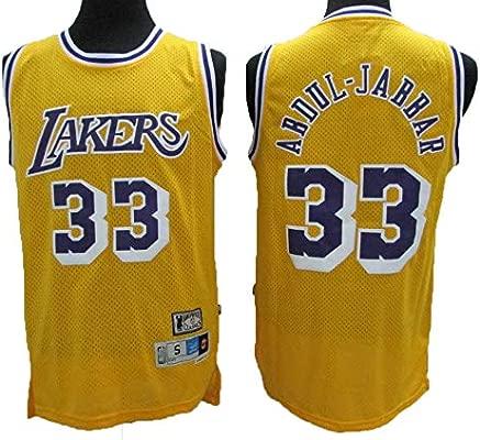 Camiseta NBA Lakers 33# Kareem Retro All-Star De Jersey para Hombre, Tela Fresca Y Transpirable, Camiseta De Baloncesto para Mujer De Shorts De ...