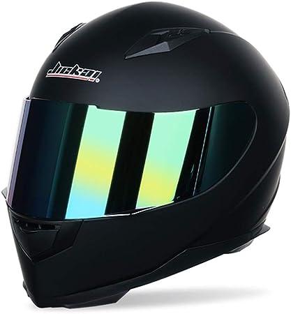 Männer Frauen Universal Full Face Motorradhelm Winter Thermische Antifogging Motorradhelm Farbe Beschichtet Sicherheit Off Road Helme 53 62 Cm Sport Freizeit