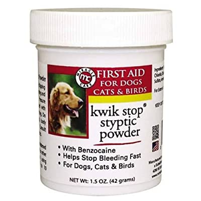 Gimborn Kwik Stop Styptic Powder Dog Cat Bird Ferret Pedicure Nail Health 1.5 oz. from United States