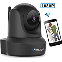 Network Wireless IP Camera, VStarcam IP Cam 1080P WiFi Video Surveillance Monitor for Indoor,Auto Pan/Tilt Night Vision Motion Alarm Home Webcam