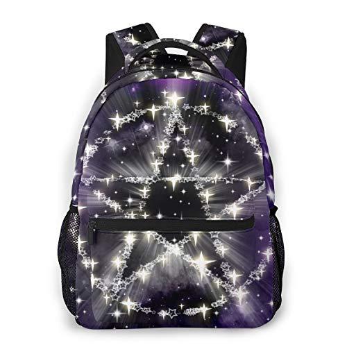 (Fashion Stars Pentagram Witchcraft Halloween Casual Bookbag School Student Backpack For Travel Teen Girls Boys Kids Adult)