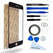 IPHONE 6 Plus / 6S Plus 5,5 Inch Black Display Touchscreen replacement kit 12 pieces incl tools / pre cut Sticker / Tweezers / Roll of 2mm adhesive tape / cleaning cloth / suction cup / wire MMOB