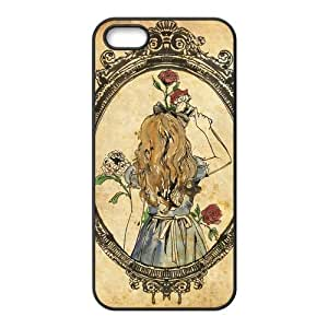 Alice in Wonderland Solid Rubber Customized Cover Case for iPhone 4ss-linda828