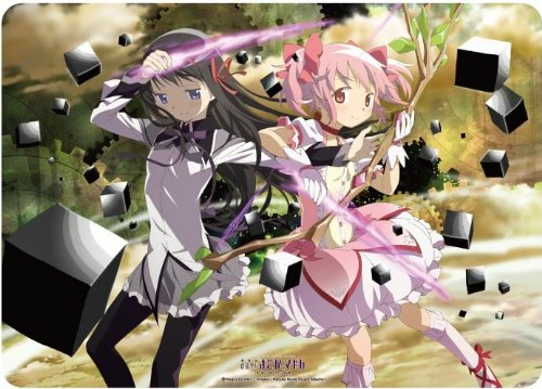 Character Rubber Mat The Movie Magical Girl [New Madoka Magika [New Girl Edition] Story of rebellion [Madoka & Homura] for Card Game by Broccoli e48262