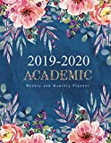 2019-2020 Academic Planner Weekly and Monthly: Decorative Watercolor Flower Cute Design Cover | Academic Planner Weekly And Monthly | Yearly Calendar ... Month Calendar Academic Planner 2019-2020)