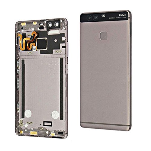 Back Battery Door Case Cover Housing For Huawei Ascend P9 standard EVA-L09 EVA-L19 + fingerpint flex cable (gray)