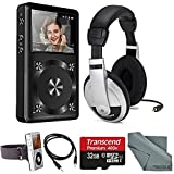 FiiO X1 Portable High Resolution Lossless Music Player with Samson Stereo Headphones, 32GB and FiberTique cleaning cloth and Deluxe Sport Accessory Bundle