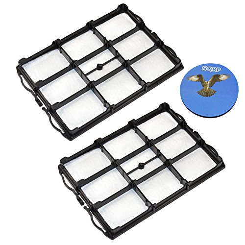HQRP 2-Pack Motor Protection Filter for Bosch BSA2 / BSA3 / BSA5 / BSD2 / BSD3 / BSG4 / BSG6 / BSG7 / BSG8 / BSGL2 / BSGL4 / BSGL5 / BSGMOVE Series Vacuum Cleaners Coaster ()