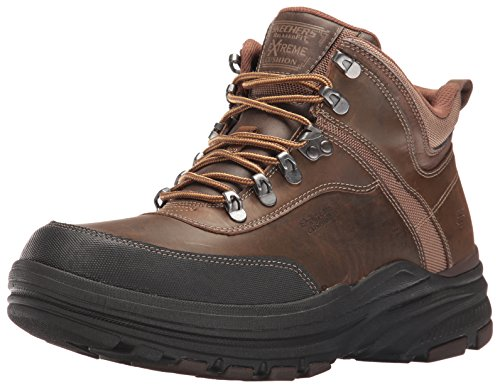 Skechers Men's Holdren Brenton Chukka Boot,Dark Brown,8.5 M US