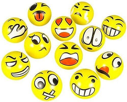 Amazon.com: Emoji estrés pelota de Squeeze – 12 Bolas de ...