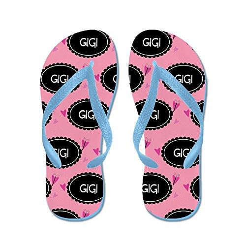 Cafepress Gigi Gigi Leuk Cadeau - Flip Flops, Grappige String Sandalen, Strand Sandalen Caribbean Blue