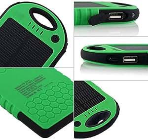 5000 mah Margoun Solar power bank charger Blackberry Leep, Passport, Classic, q10, q5, Z30 Green