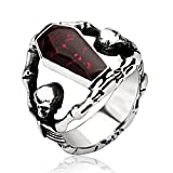 LILILEO Jewelry Stainless Steel Retro Vampire Exalt The Coffin Gothic Styling Ring For Men's Rings