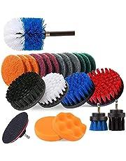 Sonline 23-delige boorborstelbevestigingsset, power scrubber boorborstels voor het reinigen van de badkamer kamer met afvoerstang om te boren