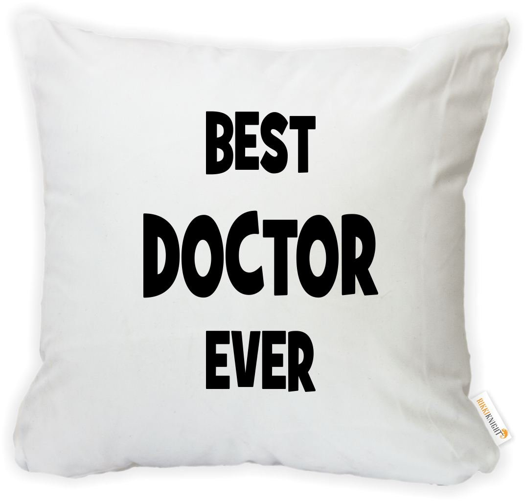 Rikki Knight 16 x 16 inch Rikki KnightBlue Worlds Greatest Doctor Microfiber Throw Pillow Cushion Square with Hidden Zipper Insert Included Printed in The USA