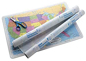 Con-Tact Vinyl Durable Repositionable Self-Adhesive Contact Paper for Lamination, 12 in X 36 ft, Clear