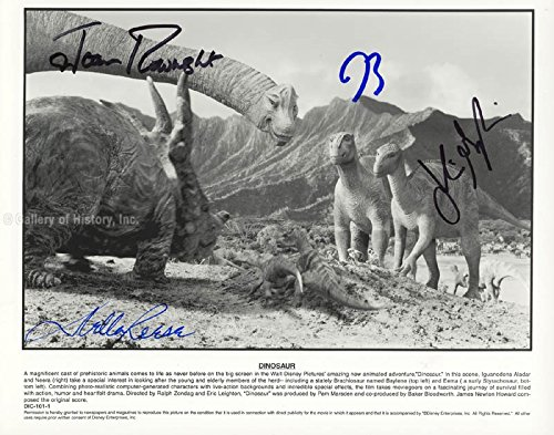 Dinosaur Movie Cast - Photograph Signed with co-signers